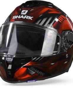 Shark Spartan GT Replikan KUR Zwart Chrome Rood  2XL