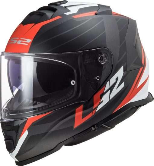 LS2 FF800 Storm Nerve Matt Black Red